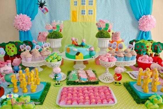 Festa Infantil Peppa Pig: mesa principal