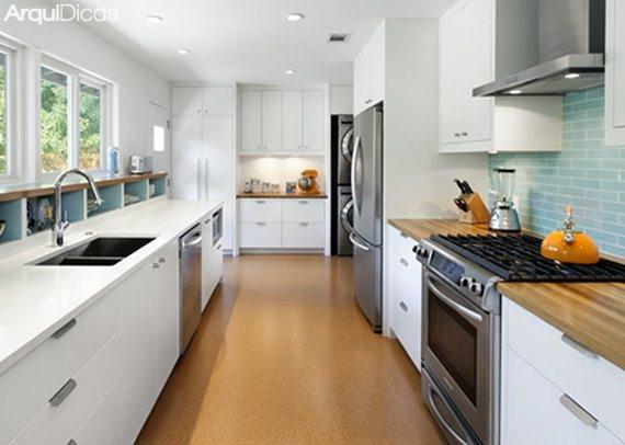 cozinhas corredor garanta a circulação