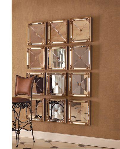 esculturas de parede espelhadas