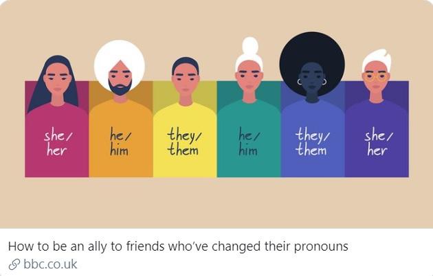the BBC pronouns