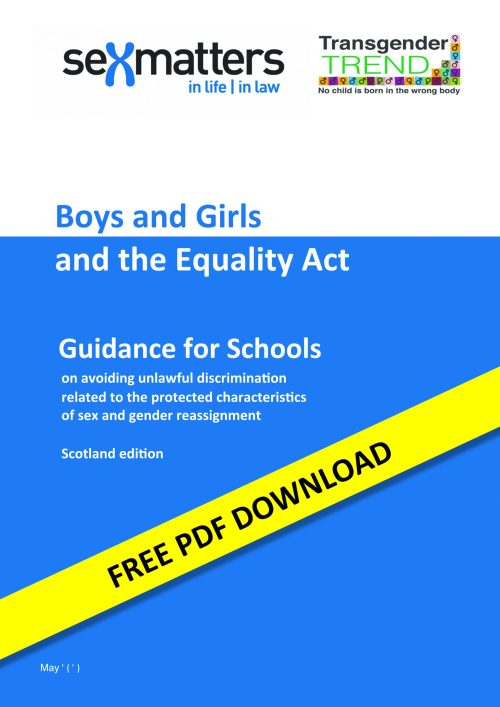 Boys and Girls and the Equality Act – Guidance for Schools (Scotland)