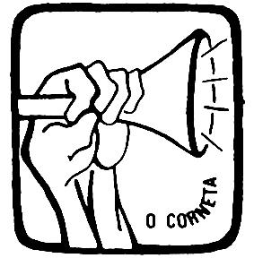 Imagem de mão segurando corneta.