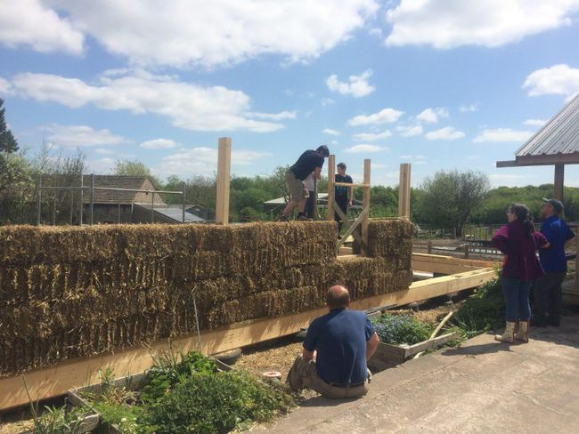 Transition Billinge & Orrell near Wigan are currently builiding a strawbale building which will be host to a professional kitchen, a community bakery, a cafe, a shop area and a dairy as well as two small offices.