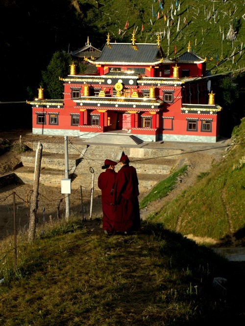 Buddhist Gompa in Kham, Tibet
