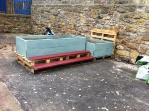 Planter Rebuild at St Gregs @ St Gregory Hall courtyard