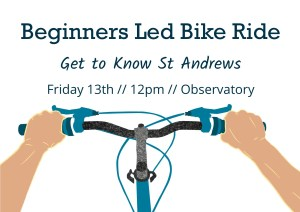 Beginners Led Bike Ride - Getting to Know St Andrews