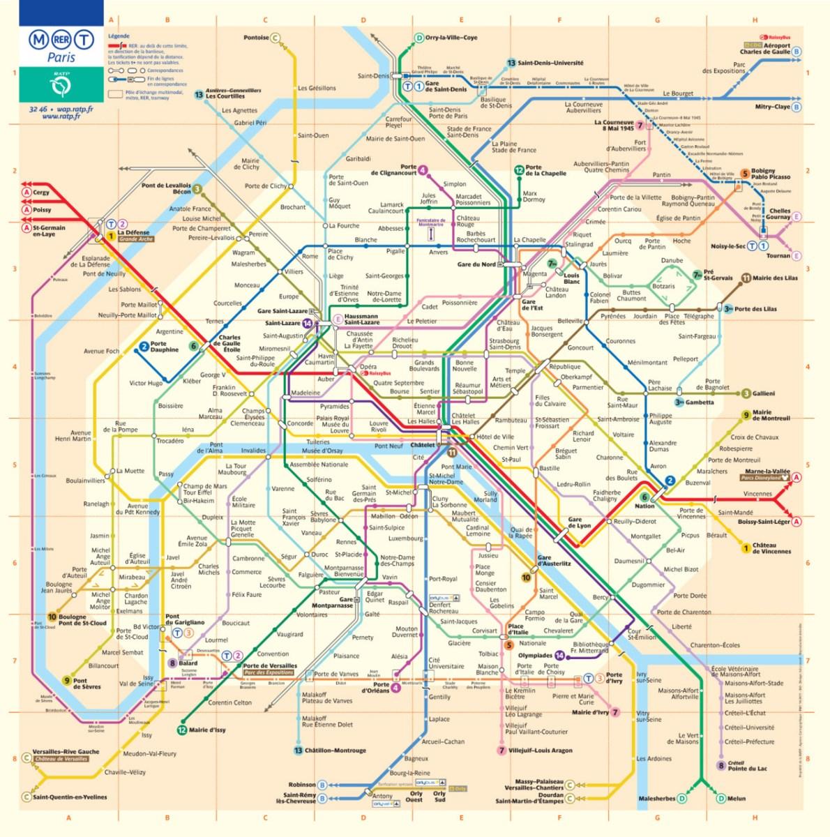 Transit Maps Official Map Paris Metro Rer Tram Map 2011
