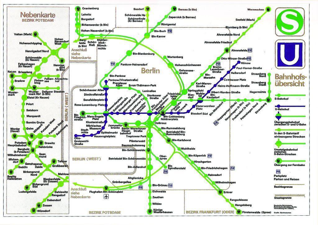 Transit Maps Historical Map East Berlin U Bahn And S Bahn C 1989 - Berlin-us-bahn-map
