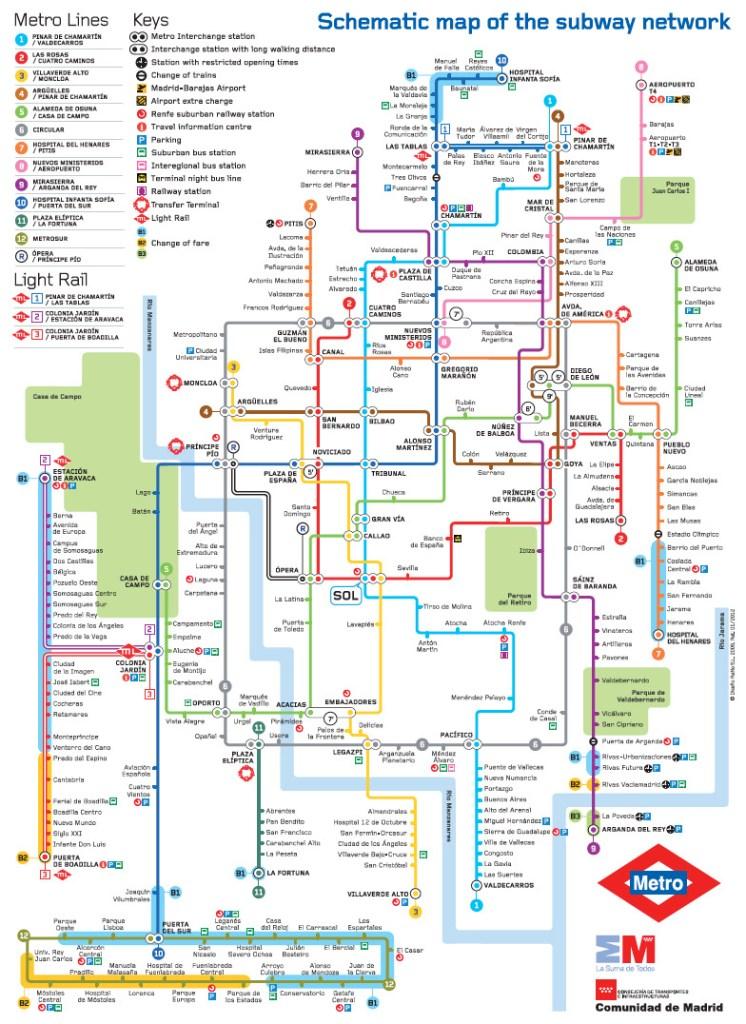 Transit Maps: Official Map: Metro de Madrid, Spain, 2012 on san juan puerto rico map, jerez spain map, catalonia spain map, ibiza spain map, world map, andalucia spain map, barcelona map, tokyo japan map, zurich switzerland map, london england map, beijing china map, sydney australia map, rio de janeiro brazil map, seville spain map, france map, moscow spain map, moscow russia map, granada spain map, oslo norway map, stockholm sweden map,