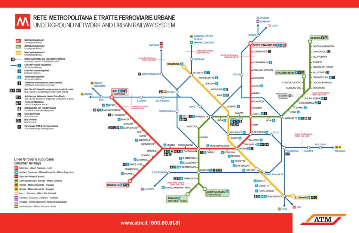 Milan Subway Map.Transit Maps Official Map Milan Metro And Suburban Rail Service 2012