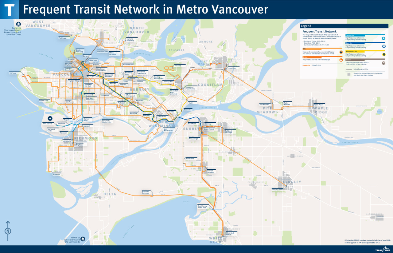 transit maps: official map: vancouver, bc frequent transit