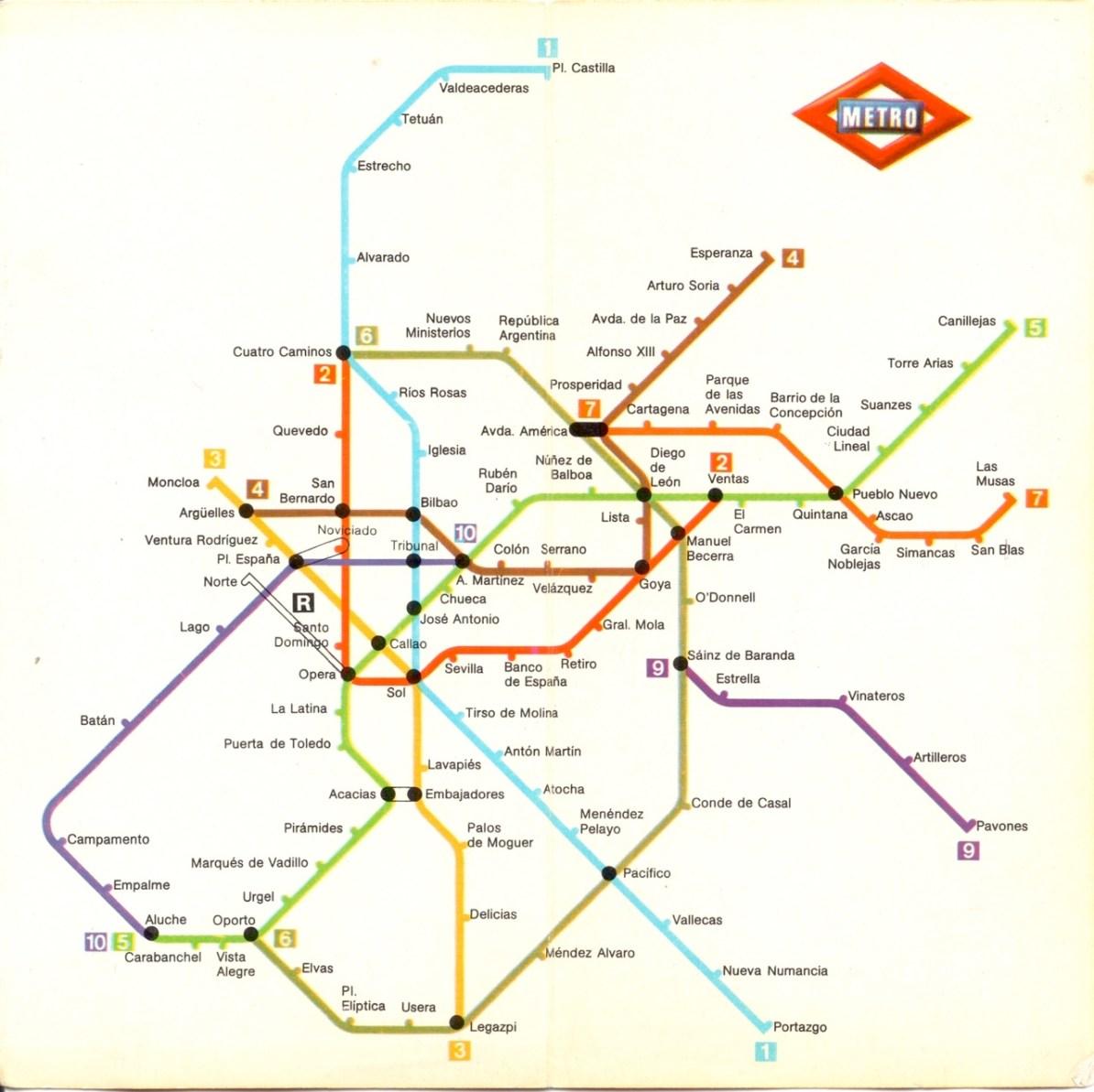 Subway Madrid Map.Transit Maps Historical Map Metro De Madrid 1981
