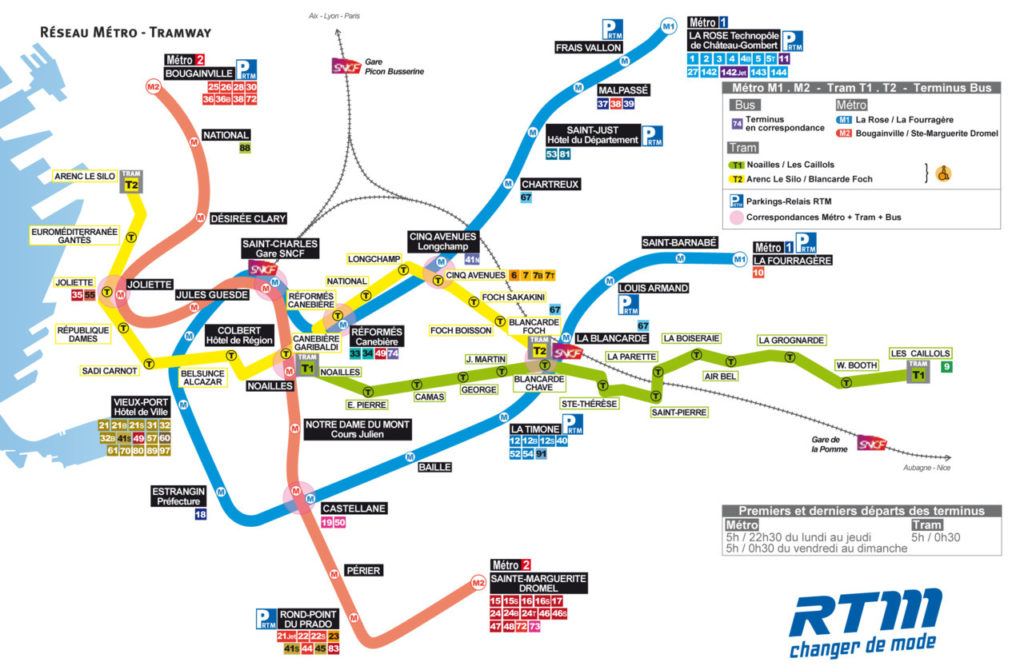Subway Map D Train.Transit Maps Official Map Metro And Tramway Marseille France 2012