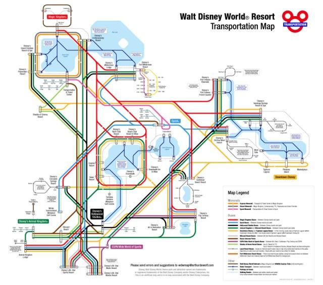 Transit Maps: Unofficial Map: Transportation of Walt Disney ...