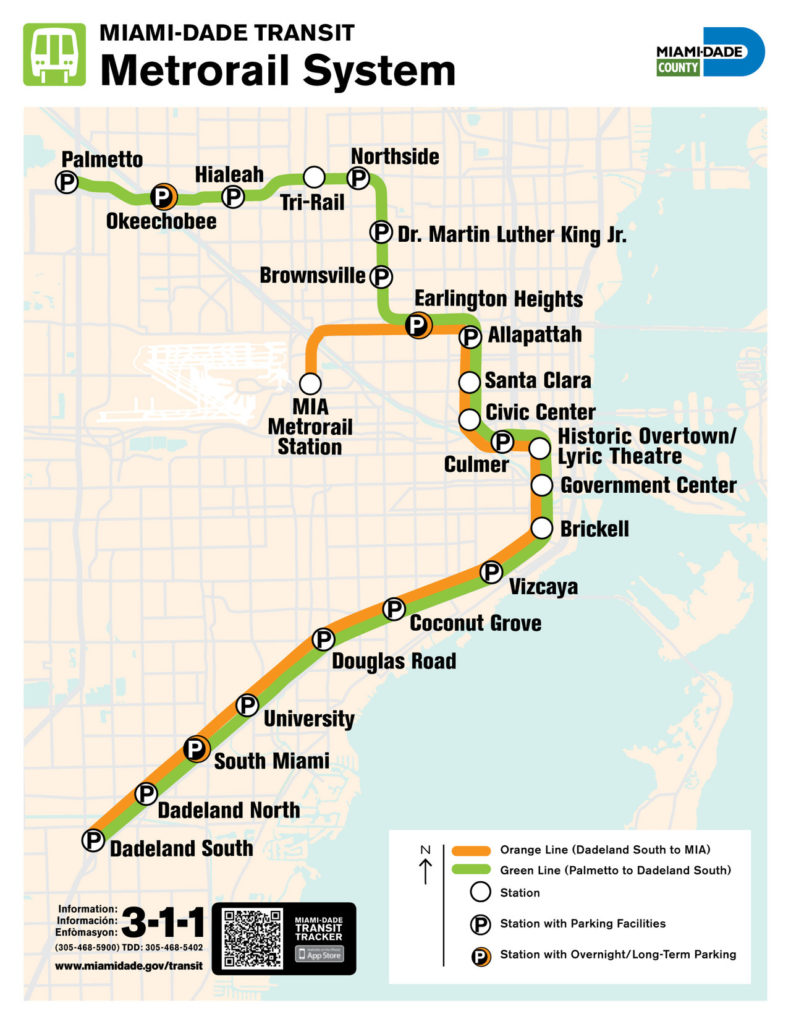 transit maps: official map: miami-dade metrorail system