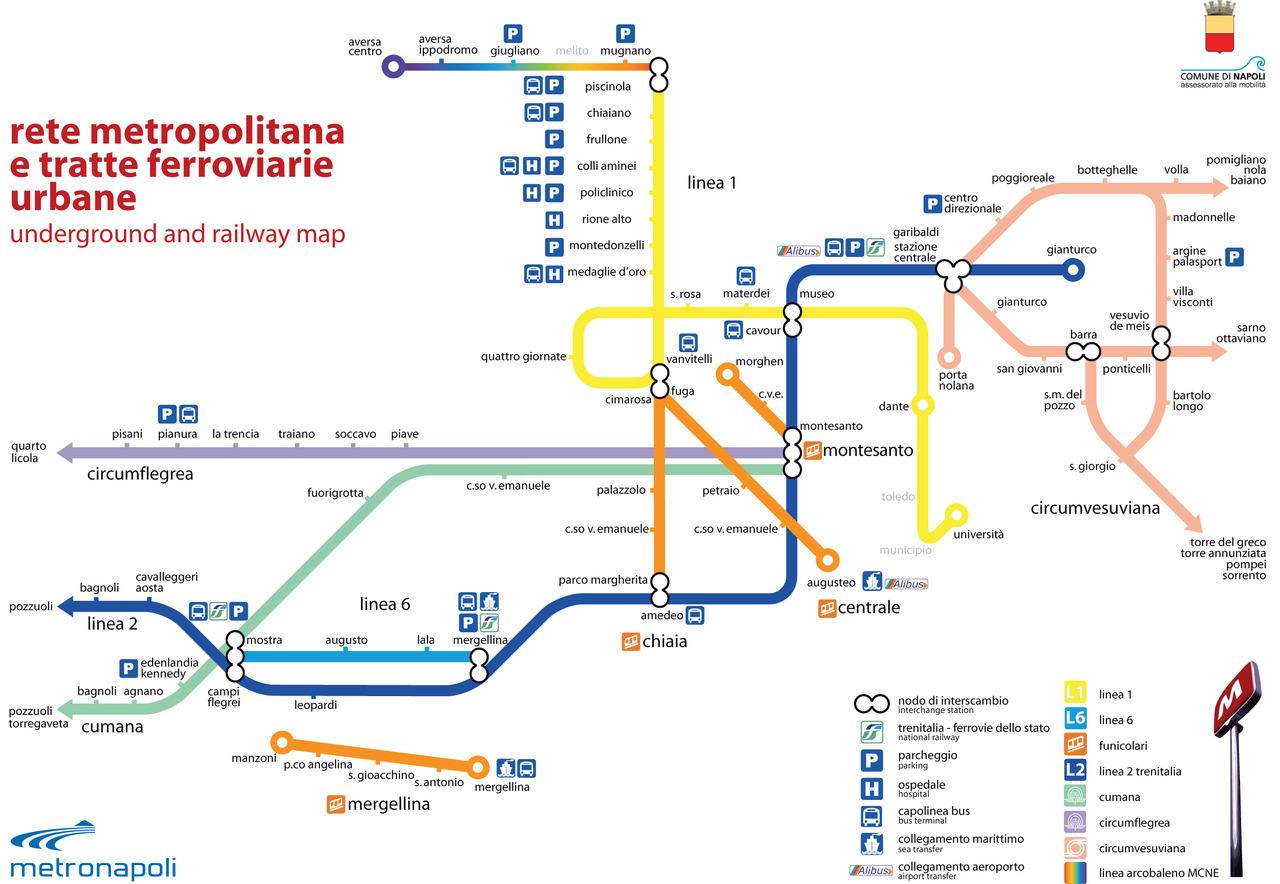 Naples Subway Map.Transit Maps