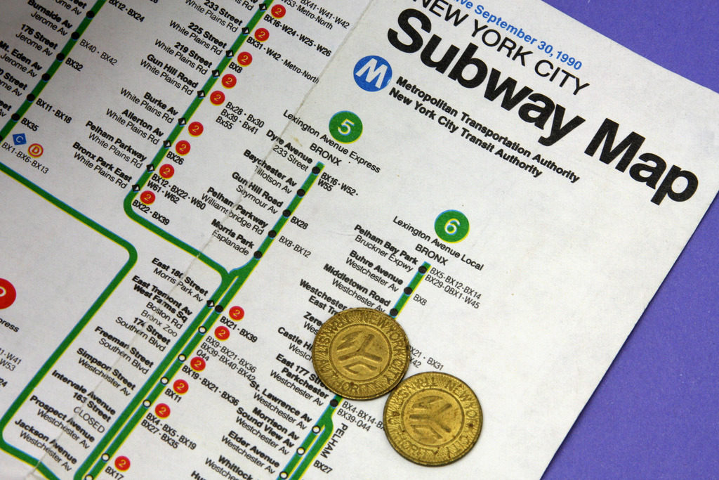 Mta Subway Map In 1990.Transit Maps Photo Ny Subway Map And Tokens 1990