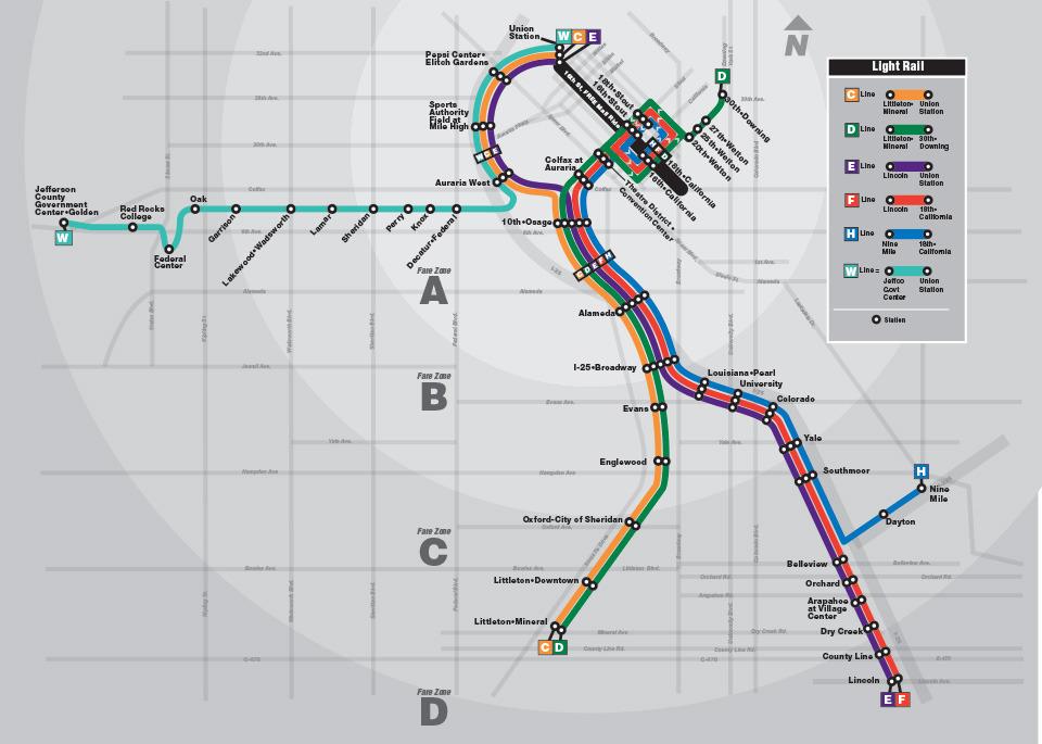 Transit Maps Official Map Update Denver Rtd Light Rail West Line 2013