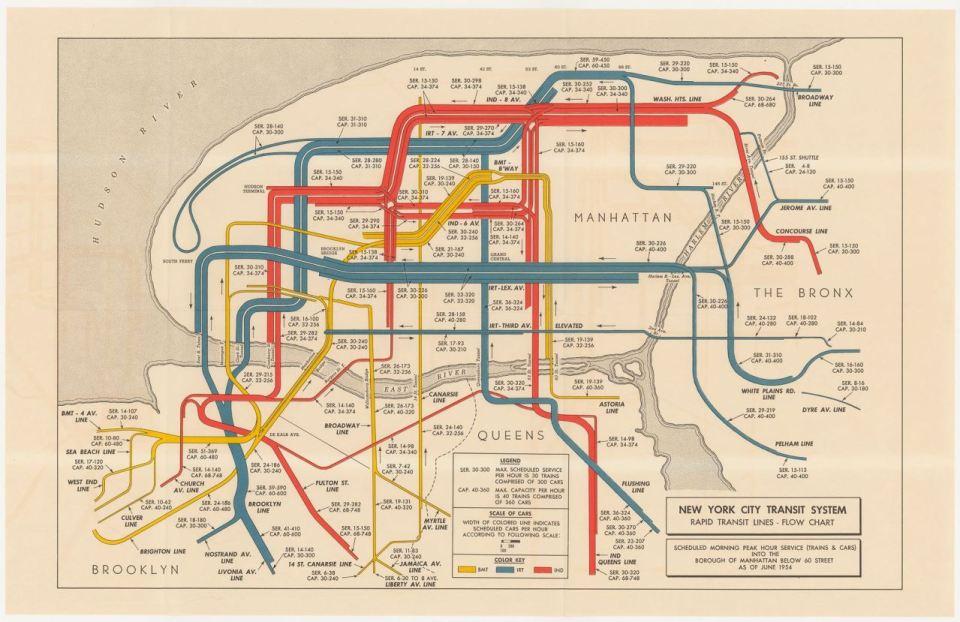 Greater New York Subway Map.Transit Maps Historical Map New York City Transit System Morning