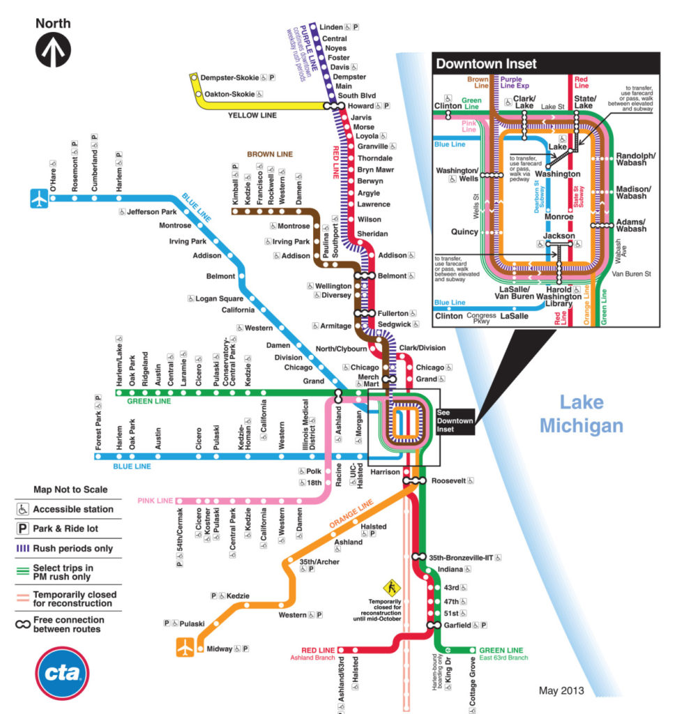 Transit Maps: Behind the Scenes: Evolution of the Chicago ...