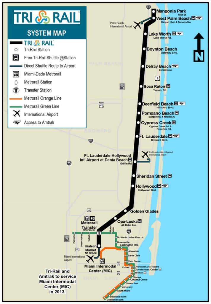 Transit Maps Official Map Tri Rail Commuter Rail Southern Florida