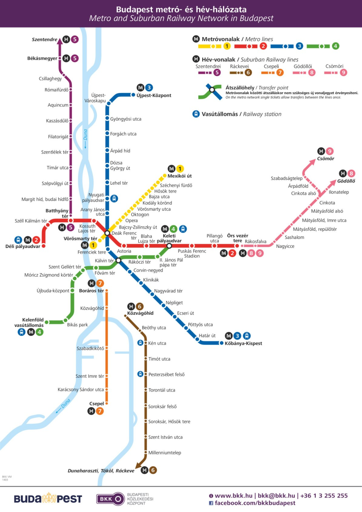 Transit Maps: Official Map: Budapest Metro and Suburban Rail ...
