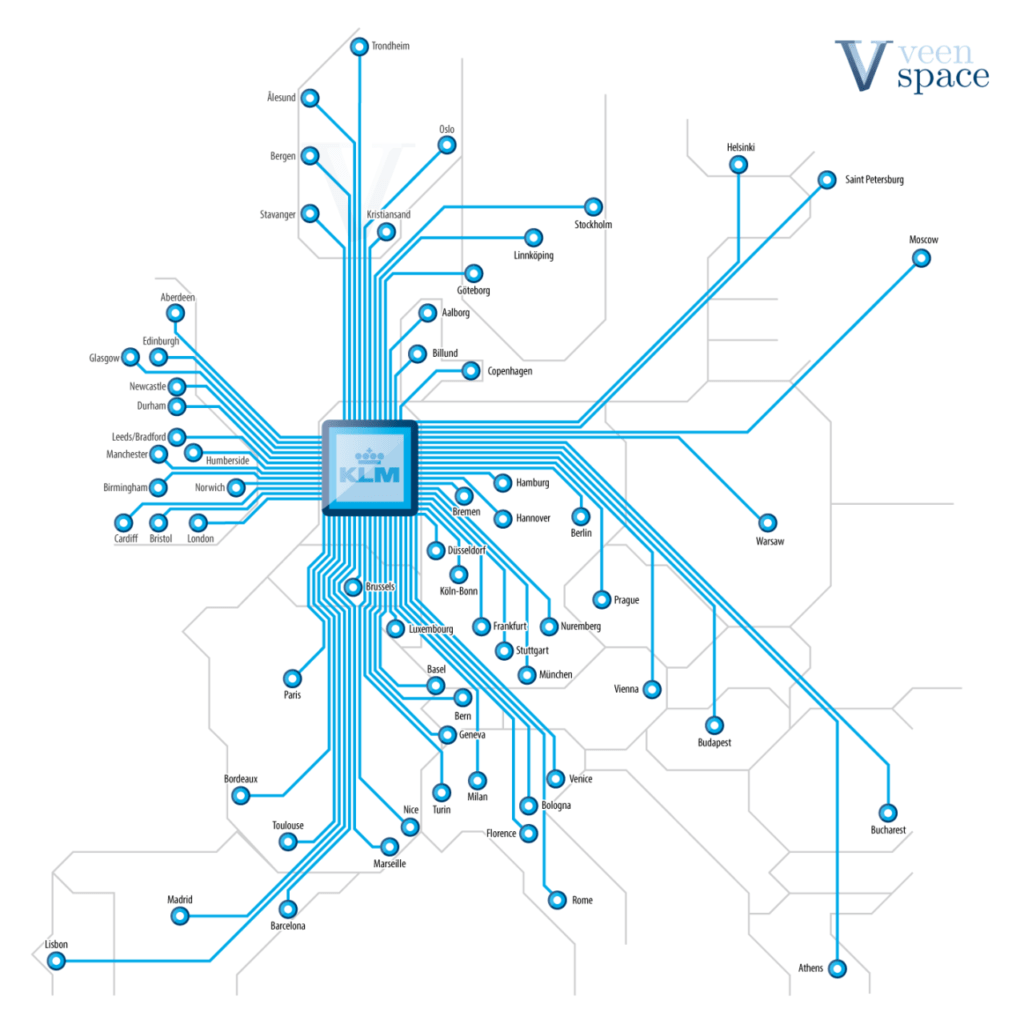 Transit Maps: Unofficial Map: KLM Airlines European Routes ...