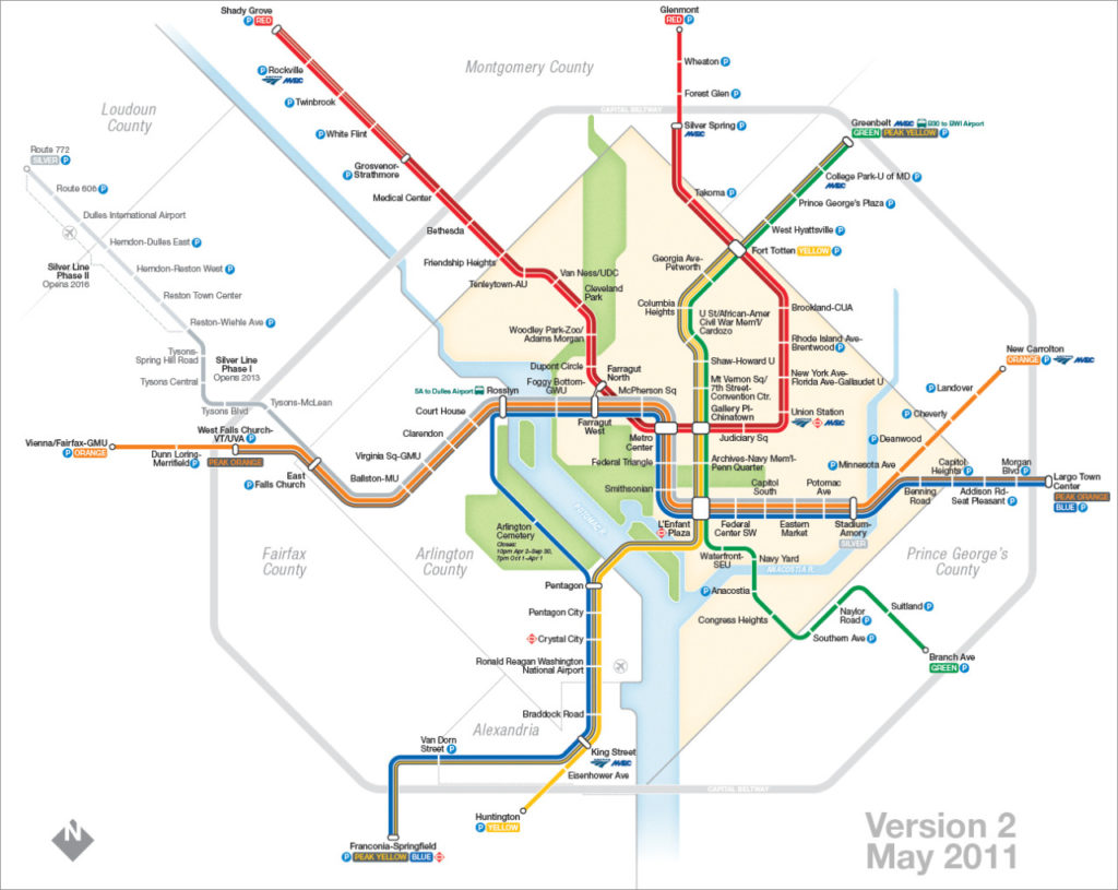 Transit Maps The Evolution Of My Washington Dc Metro Map