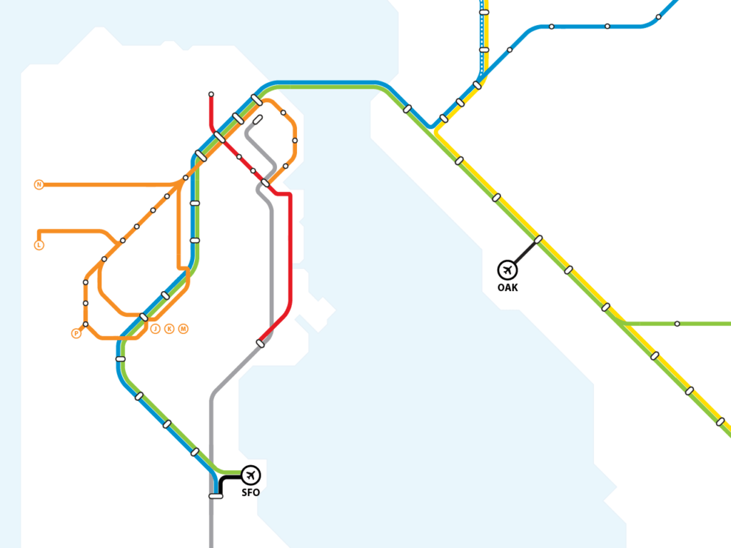 Transit Maps Submission Unofficial Unified Bart Muni Metro Map By