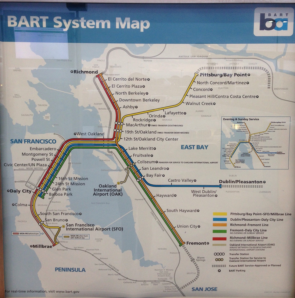 Transit Maps Submission New Bart San Francisco Bay Area Map
