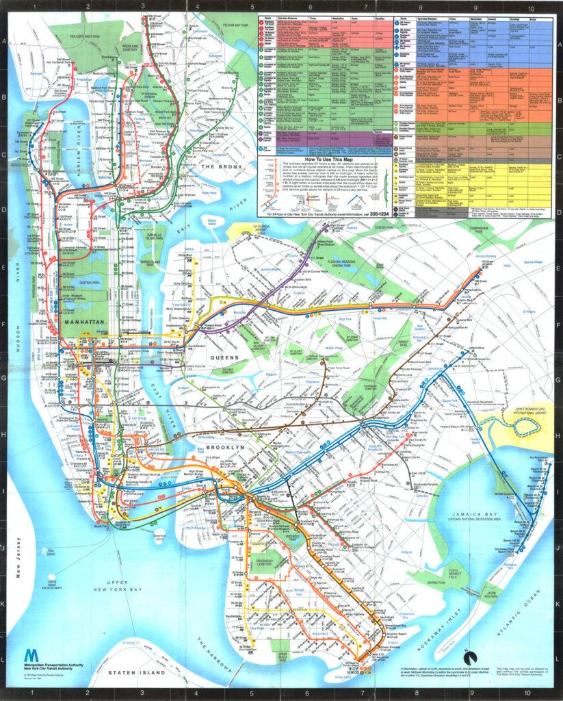 New York City Subway Map 1979.1979 Nyc Subway Map Stadslucht
