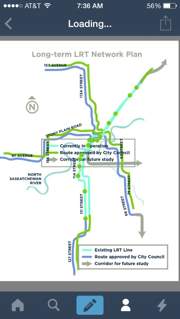 Transit Maps Submission Future Map Long Term Lrt Network Plan