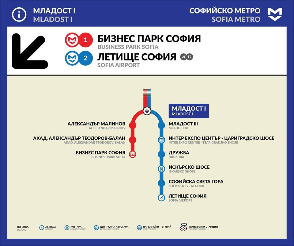 Sofia Subway Map.Transit Maps Unofficial Map Metro Map Of Sofia Bulgaria By Save
