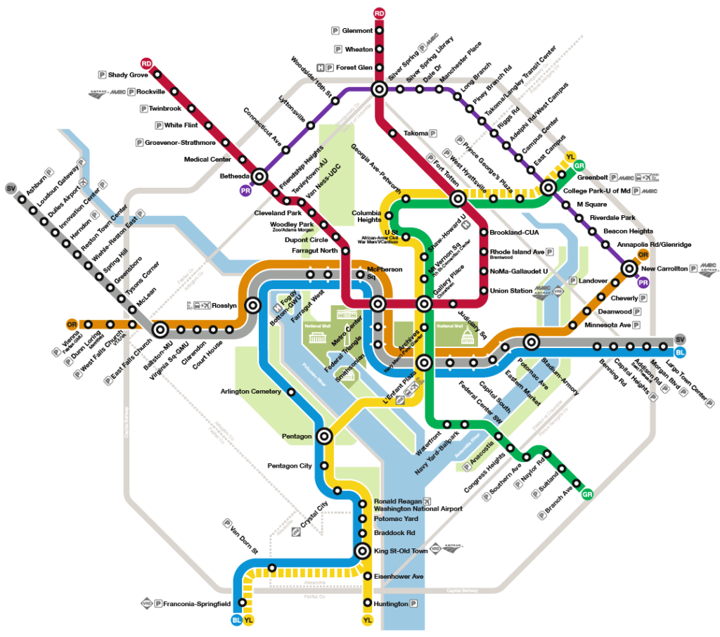 Washinton Dc Metro Map.Transit Maps How Should The Purple Line Appear On The Washington