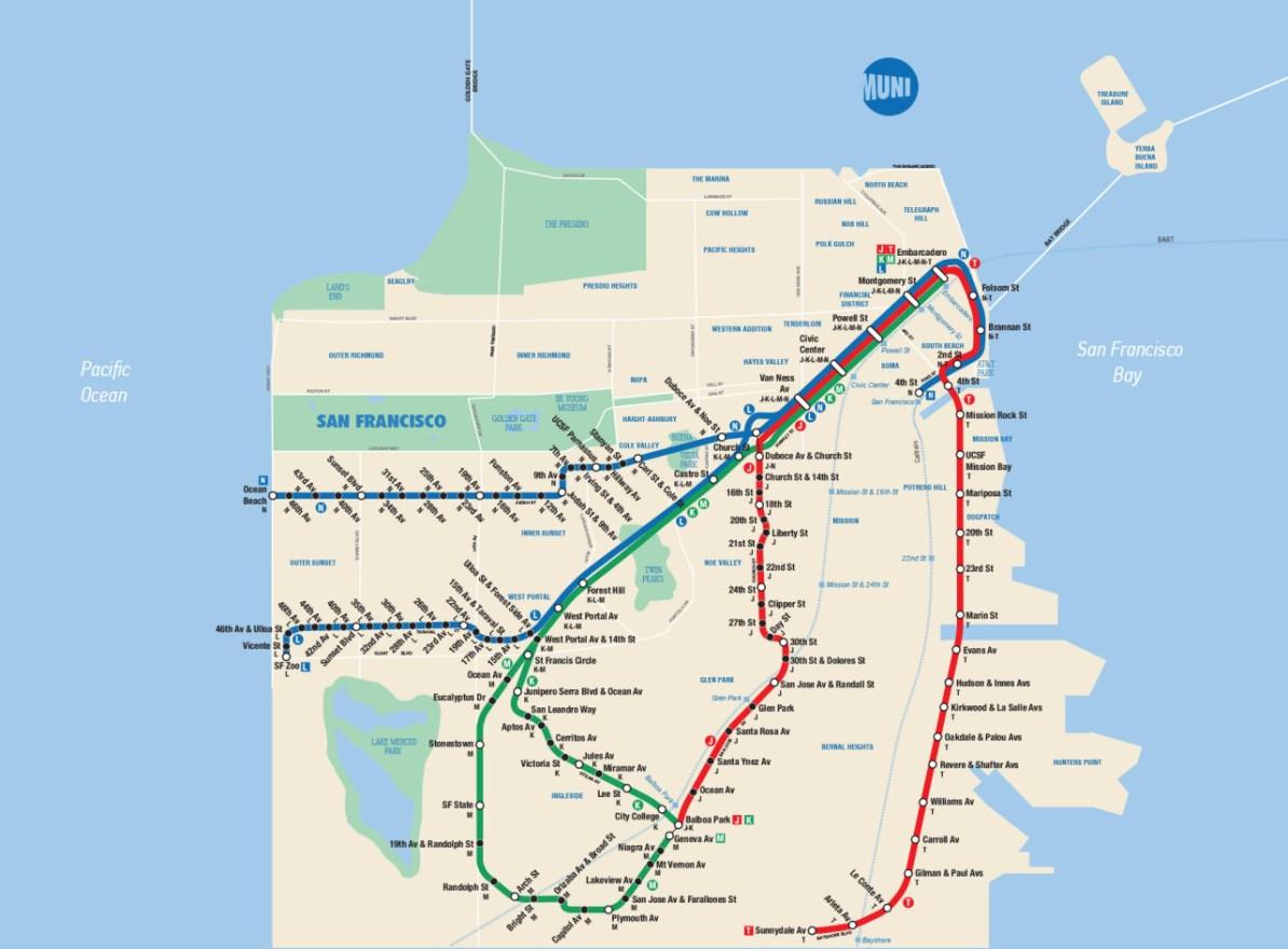 Fantasy New York Subway Map.Transit Maps Fantasy Map San Francisco Muni Metro In The Style Of