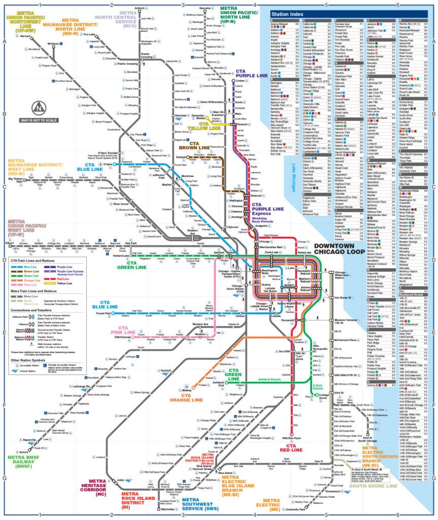 Transit Maps: Official Map: Chicago Regional Transportation ...