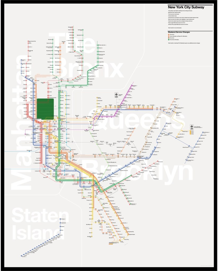 Transit Maps: Unofficial Map: New York Subway by Tommi Moilanen