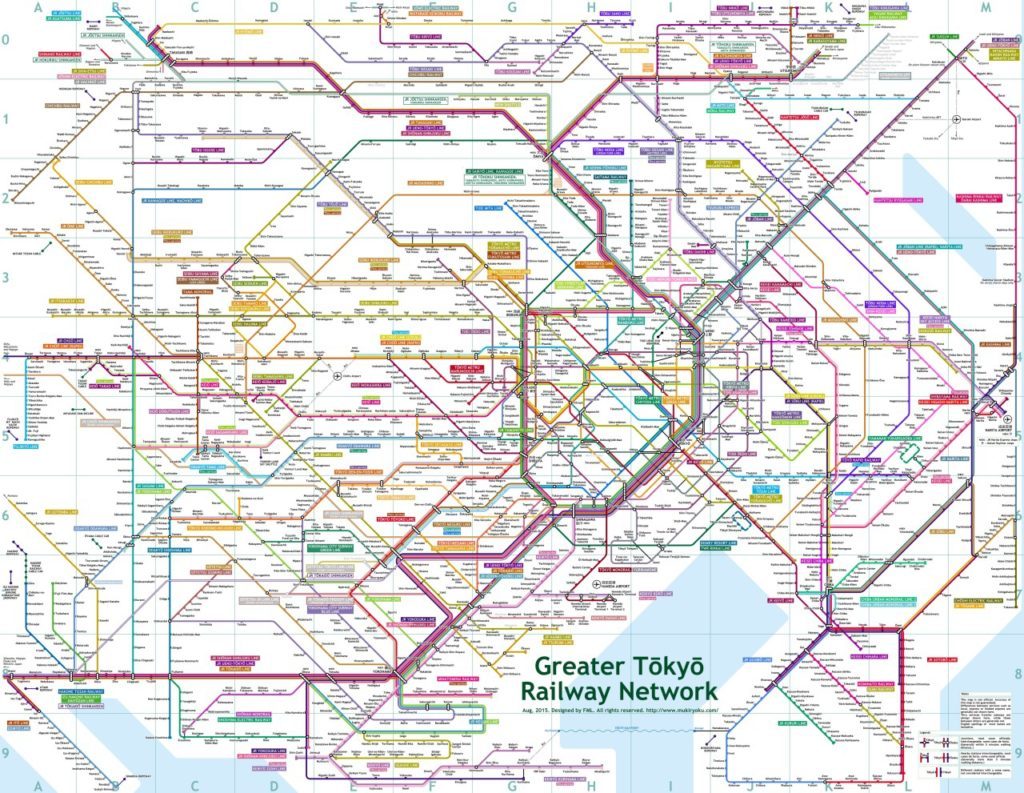 Transit Maps  Unofficial Map  Greater Tokyo Railway