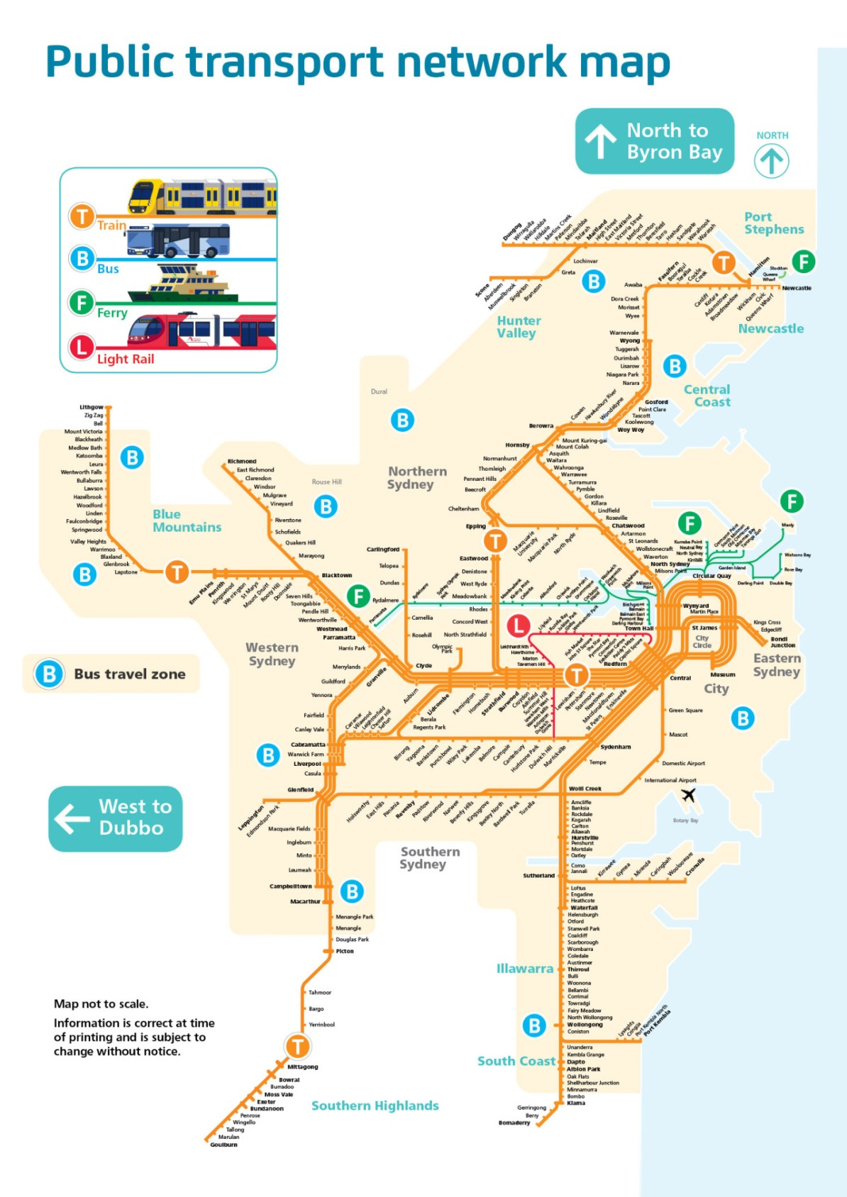 Map Of Australia 2016.Transit Maps Cancelled Official Map Public Transport Network Map