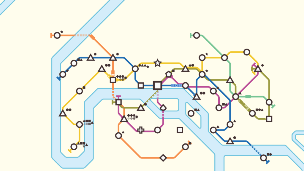 Subway Map In Heart Shape.Transit Maps Review Mini Metro For Mobile Devices