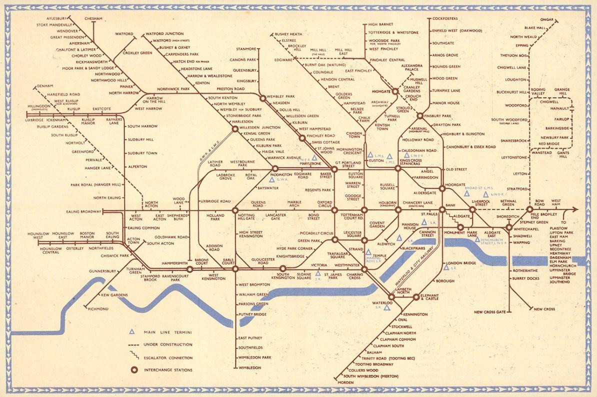 Transit Maps Historical Map 1941 London Underground Map By Hans Zero Schleger