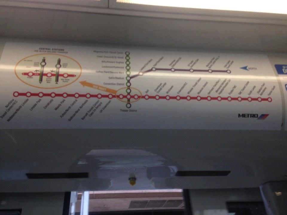 Houston Texas Subway Map.Transit Maps Submission New Houston Metrorail Strip Map 2017