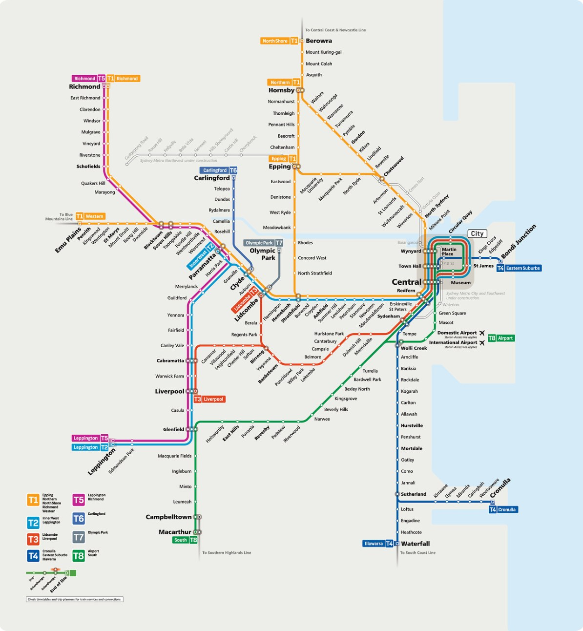 Transit Maps: Submission – Draft Official Map: Sydney Trains, August ...