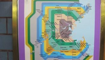 Transit Maps: Photo: Vintage MBTA Red Line Order of Stations Sign