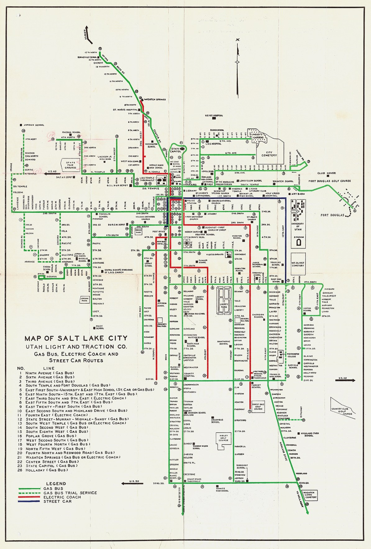 Transit Maps: Historical Map: Lines of the Utah Light