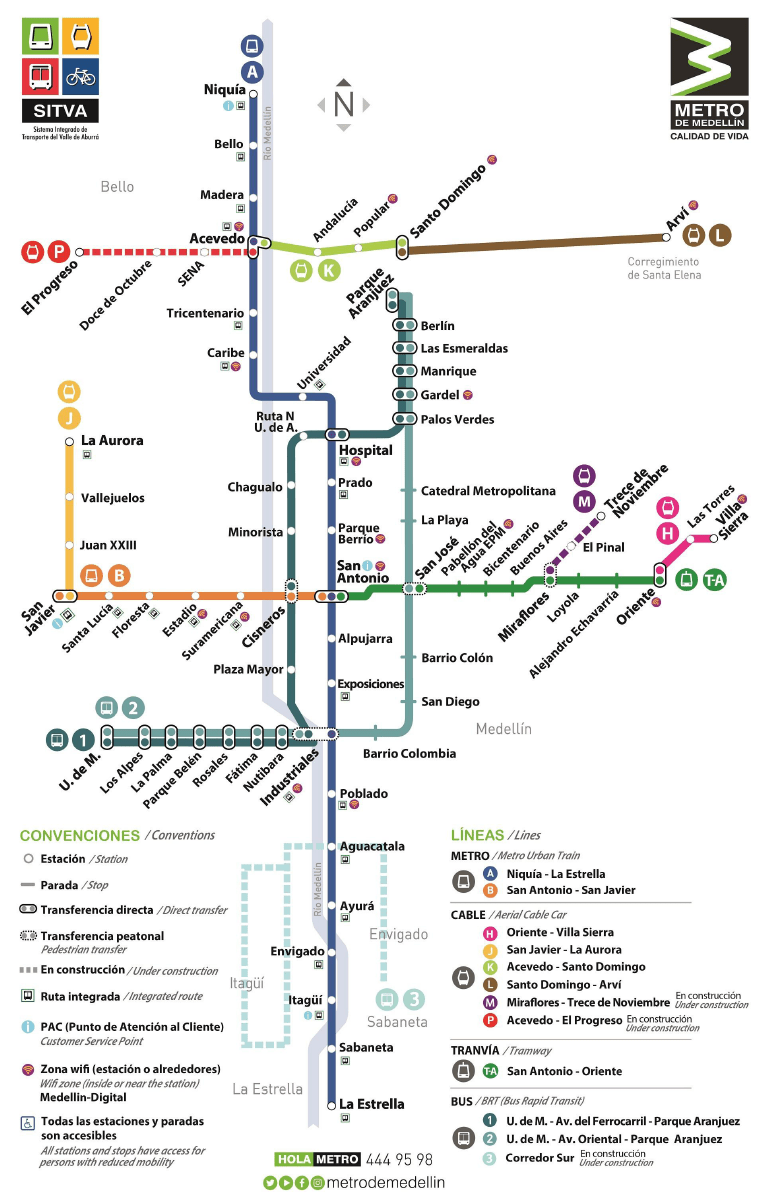 Subway Map Metra.Transit Maps Submission Official Map Metro De Medellin Map 2018
