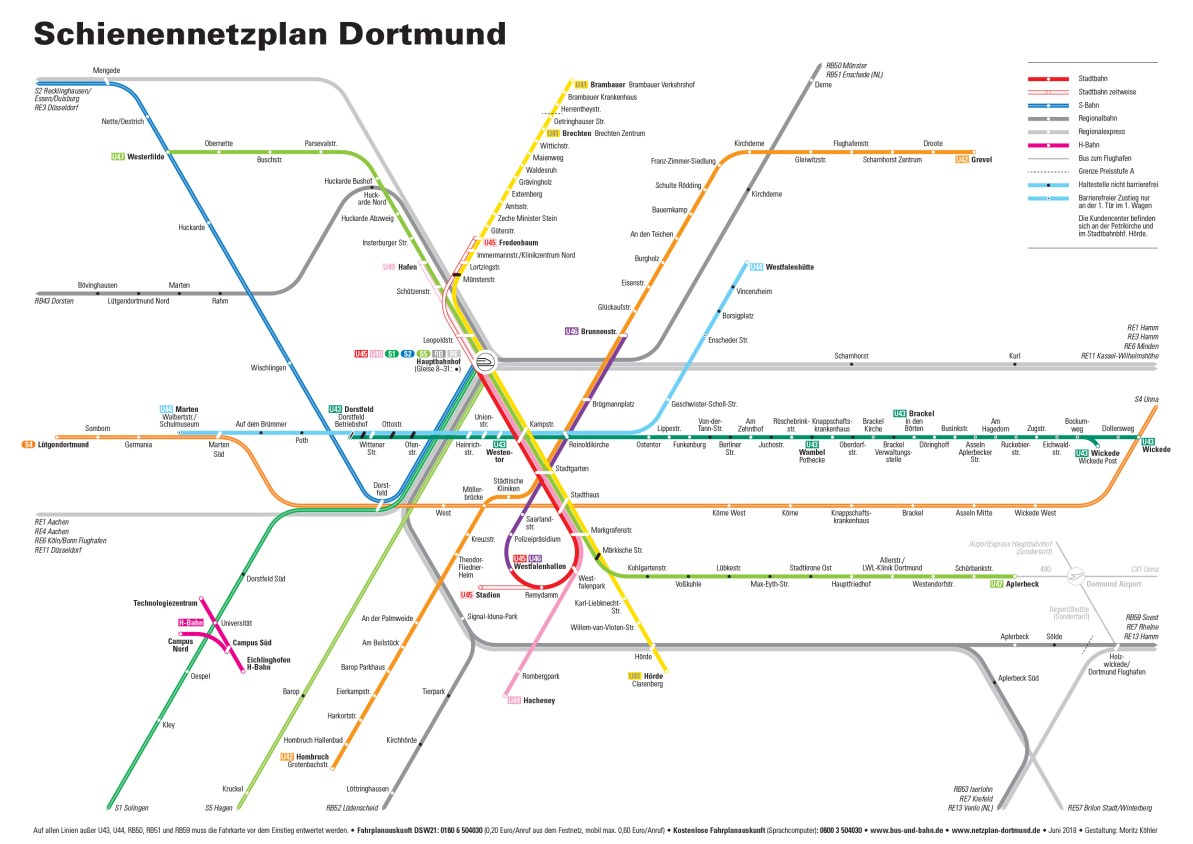 Dortmund On Map Of Germany.Transit Maps Submission Unofficial Map Rail Transit Of Dortmund