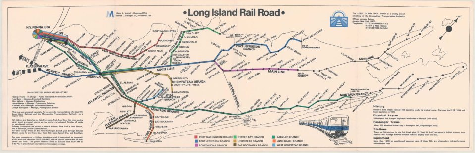Transit Maps: Historical Map: Long Island Rail Road Press Map, c. 1976