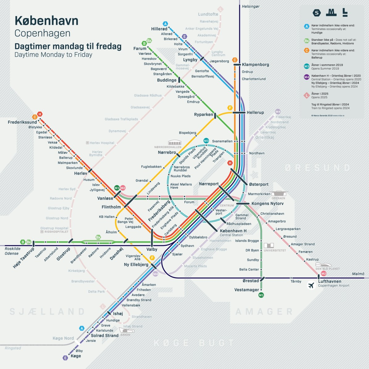 Subway Map Of Copenhagen.Transit Maps Submission Unofficial Map Future Rail Services Of
