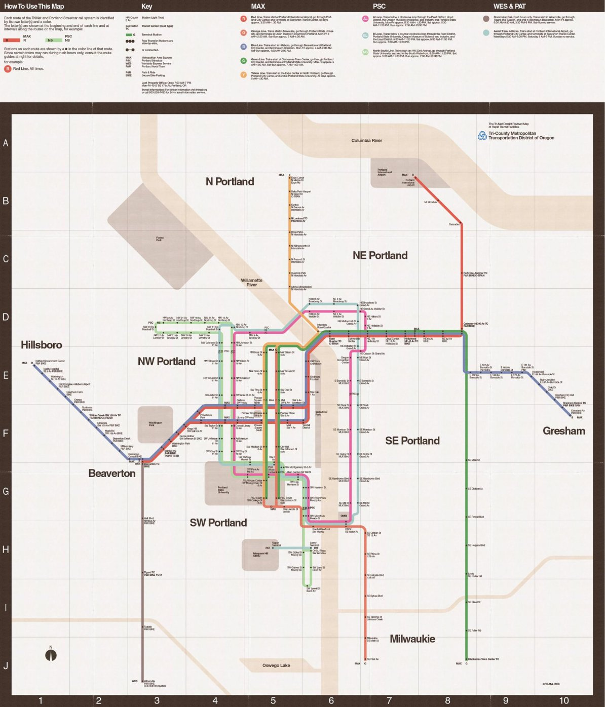 Nyc Subway Map Massimo Vignelli.Transit Maps Fantasy Map Portland Max In The Style Of The Vignelli